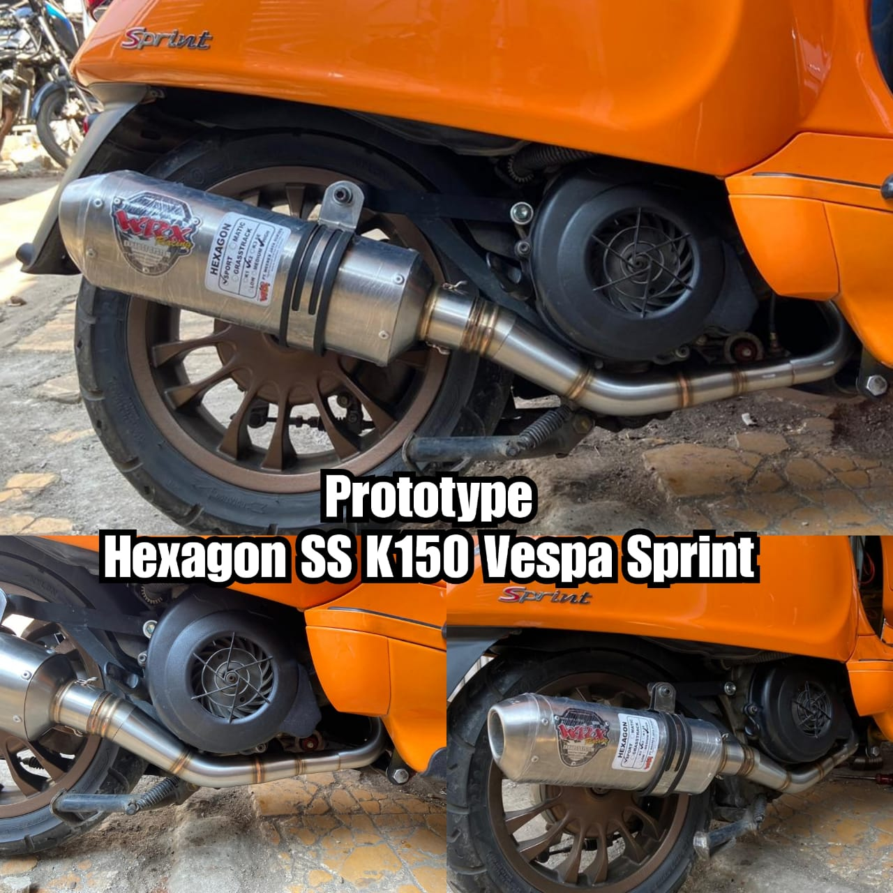 Coming Soon WRX Exhaust for Vespa Sprint, Primavera & IGet