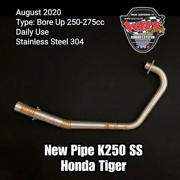 New Pipe K250 Honda Tiger Revo
